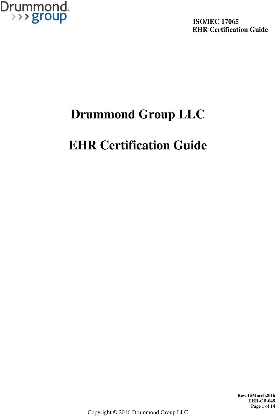 Drummond Group Llc Ehr Certification Guide Pdf