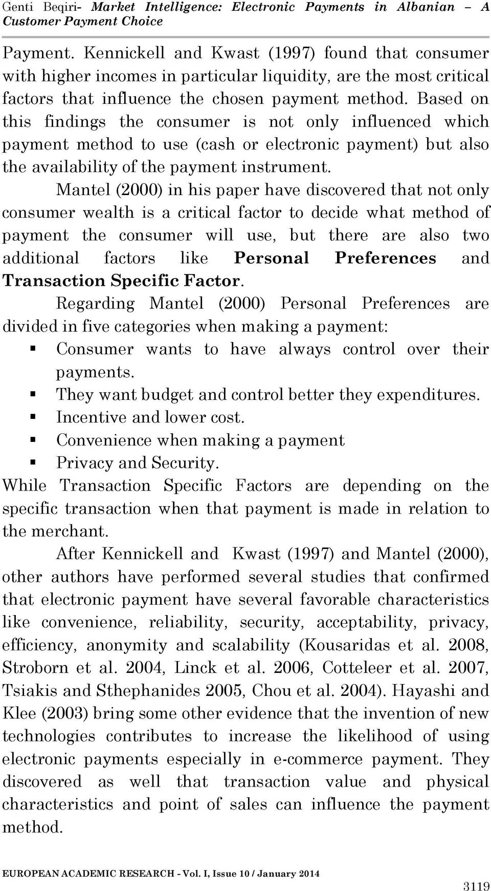 ... Intelligence Electronic Payments in Albanian A Customer Payment Choice