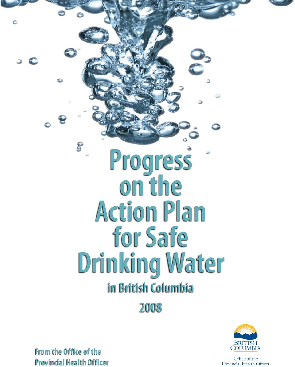 Action Plan For Safe Drinking Water 82