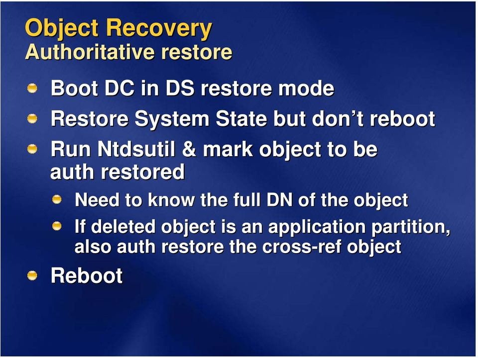 active directory recovery planning This guide provides guidance on backing up, restoring and active directory disaster recovery.