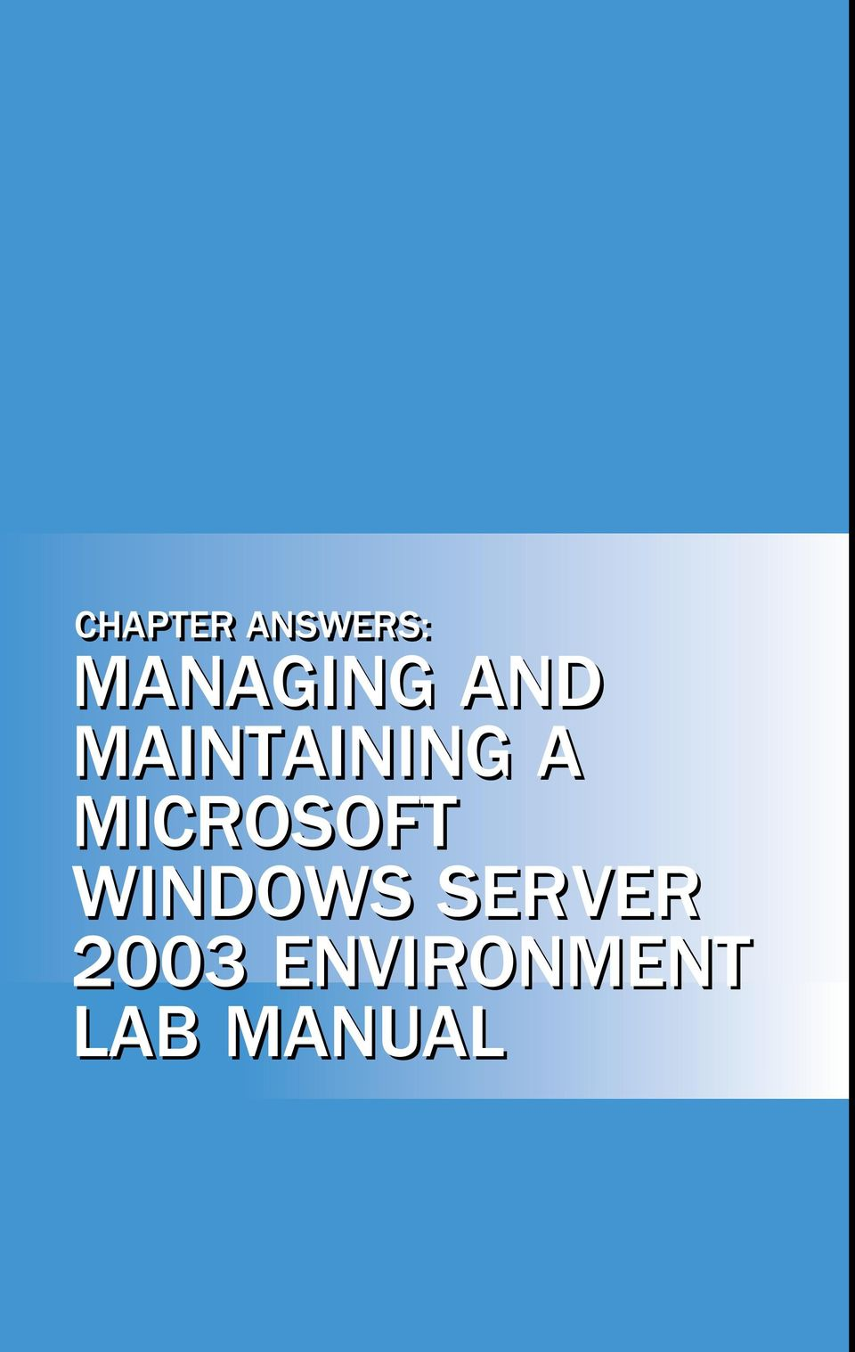 Chapter 2 lab manual