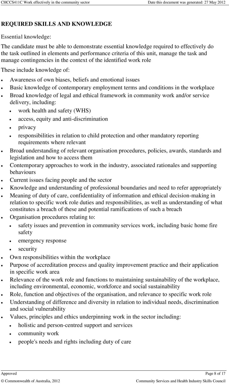 chccs411a work effectively in the community sector From community door etraining face the facts 2014 [ms word doc] fact the facts 2014 information from the human rights commission or link to the various subject areas noted in the booklet.
