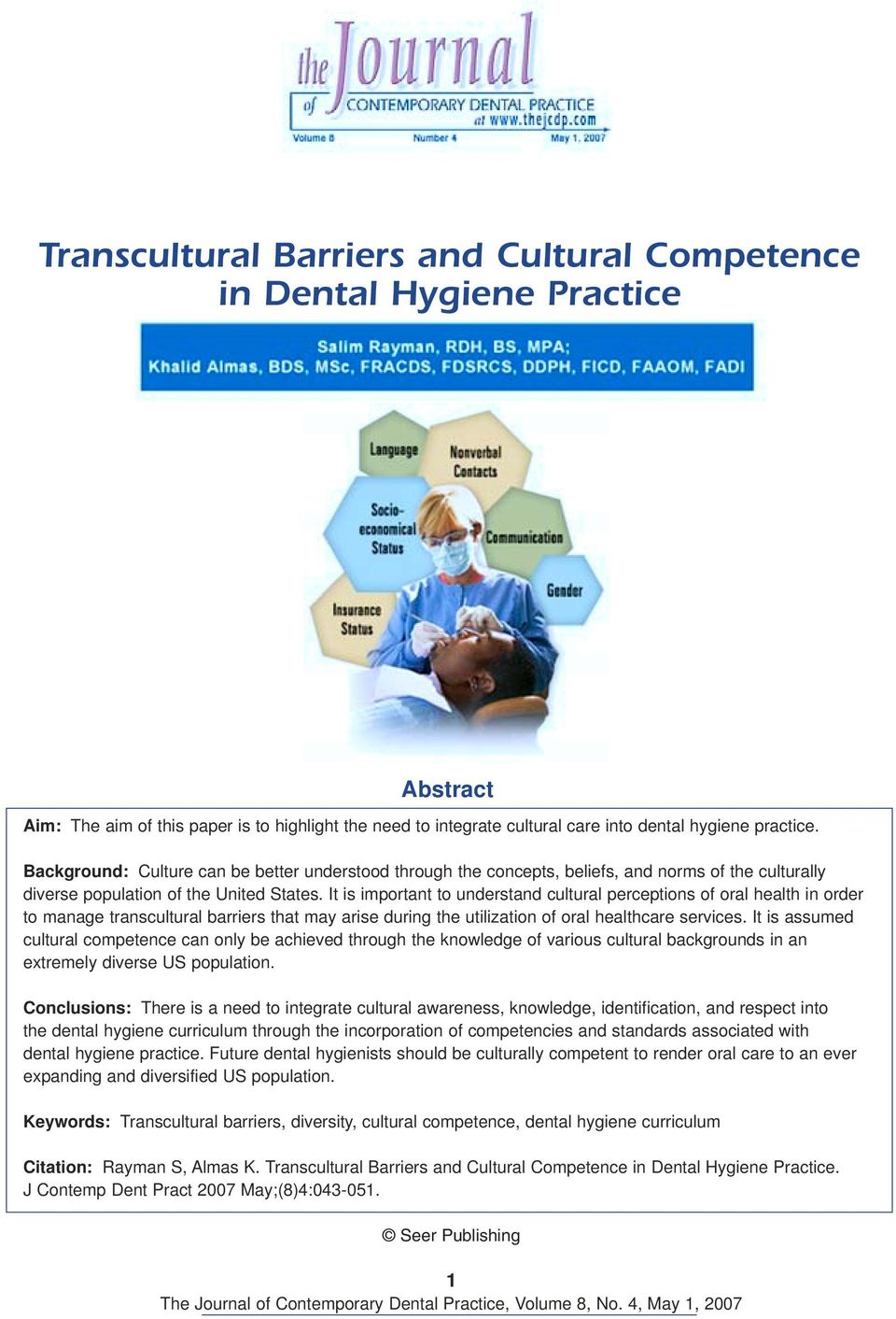 transcultural barriers and cultural competence in dental