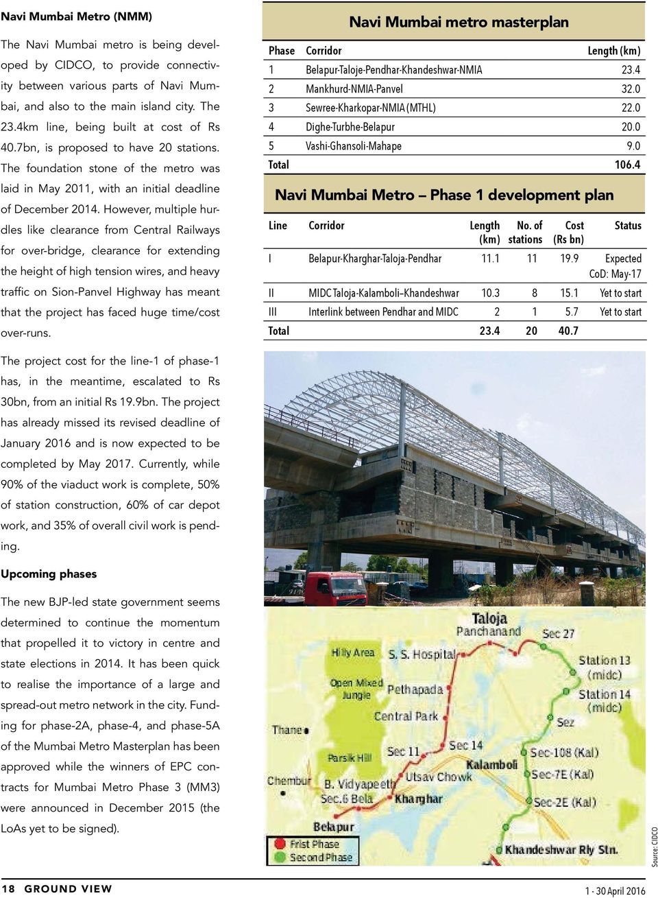 mumbai metro project report pdf