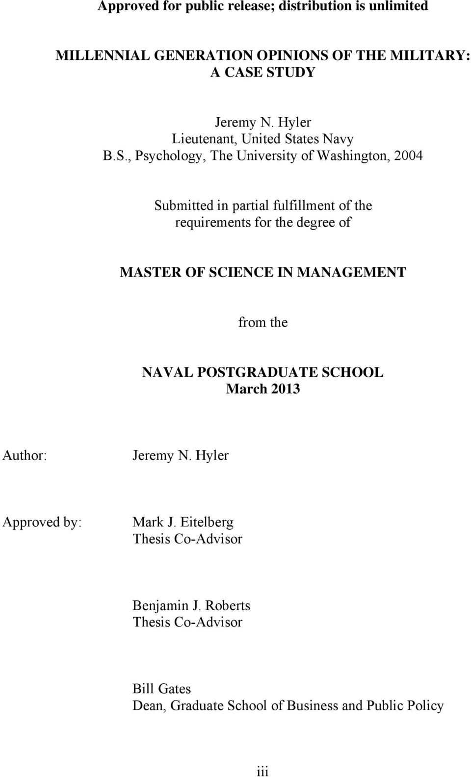 naval postgraduate school thesis 2011
