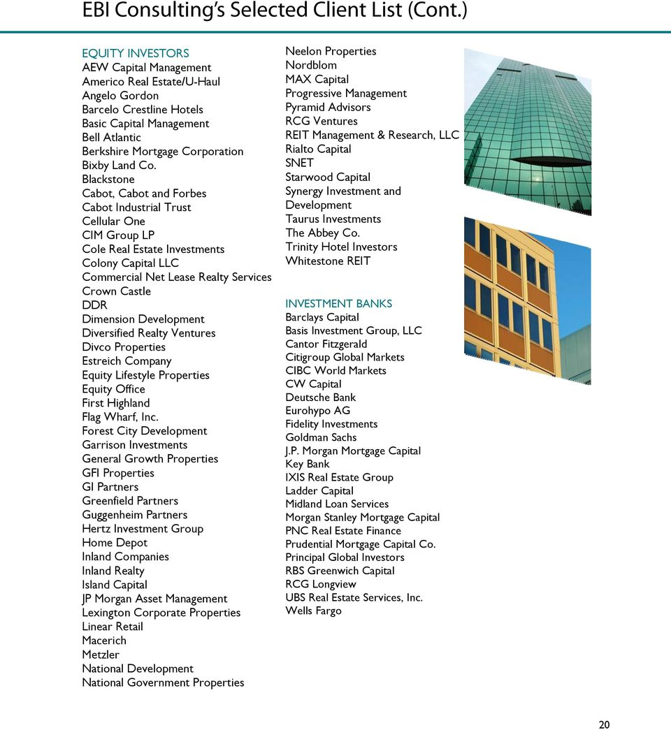 Ebi Consulting S Real Estate Services Statement Of