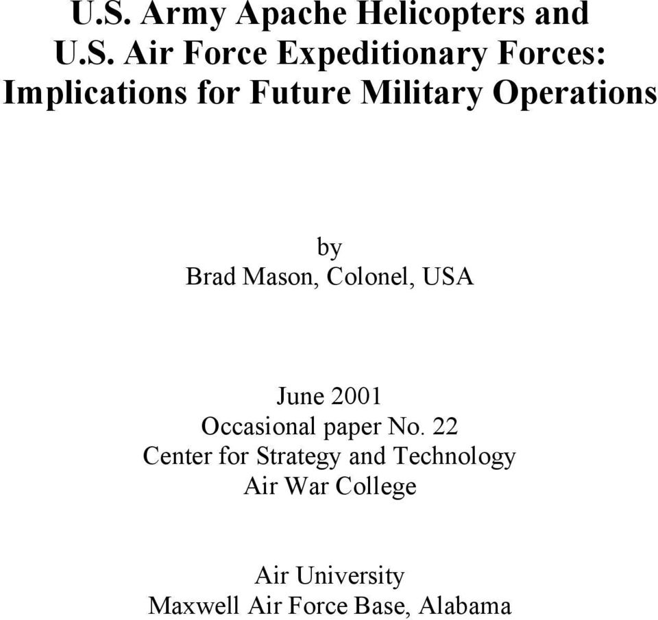 Air war college research paper