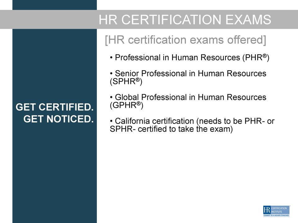 HR CERTIFICATION: YOUR KEY TO CAREER SUCCESS AND ...
