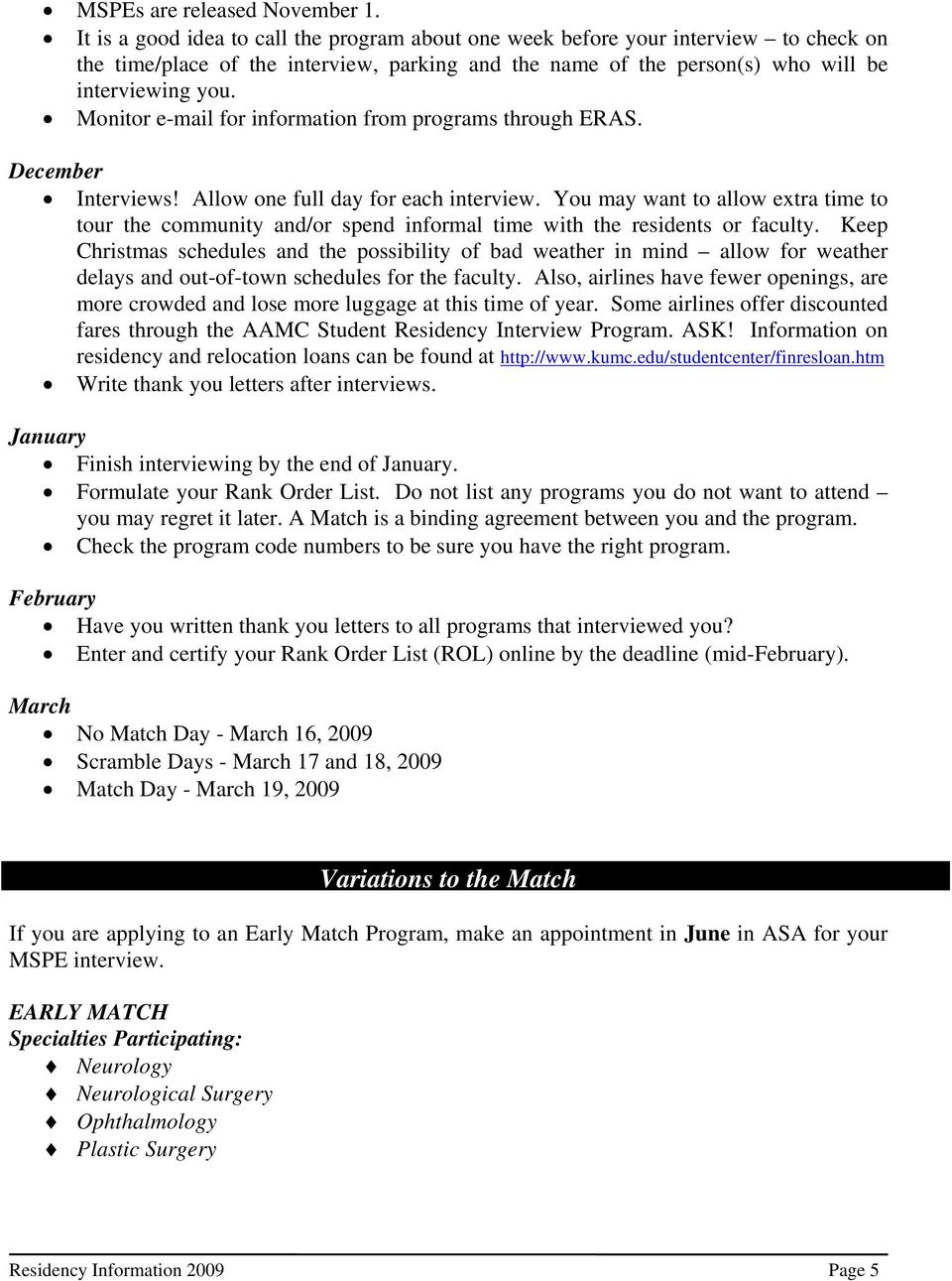 preparing for residency pdf monitor e mail for information from programs through eras interviews allow one