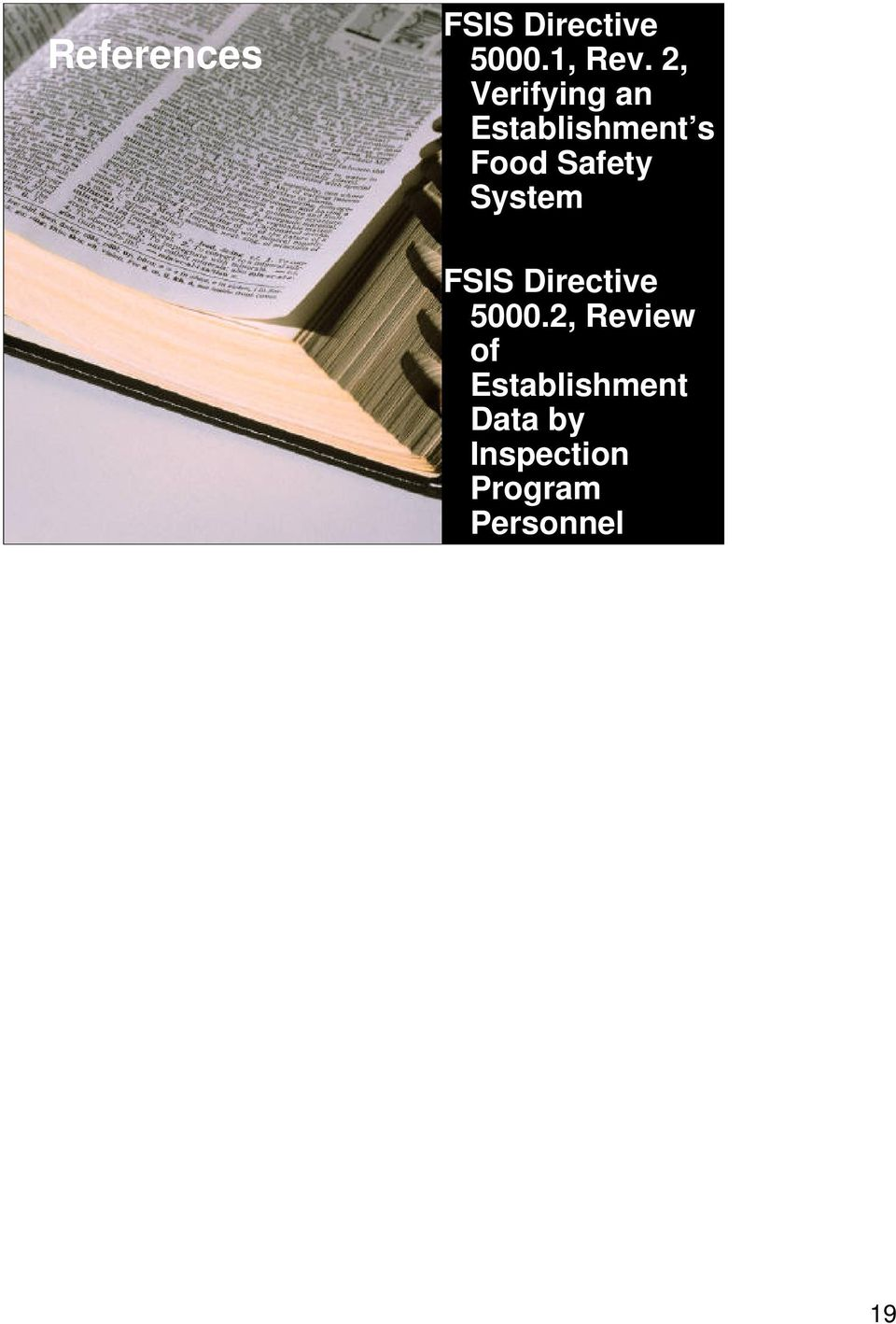 System FSIS Directive 5000.