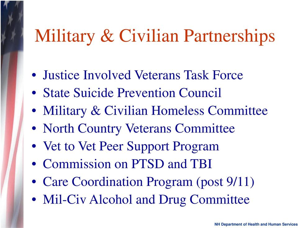 Country Veterans Committee Vet to Vet Peer Support Program Commission on