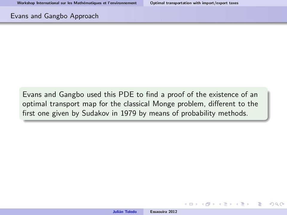 map for the classical Monge problem, different to the