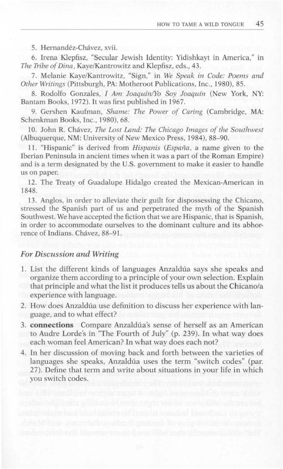 """how to tame a wild tonguemother tongue essay How to tame a wild tongue/mother tongue essay the first chapter of her book, borderlands/la frontera: the new mestiza is titled """"how to tame a wild tongue."""