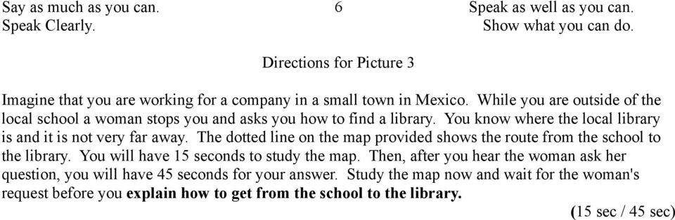how to study for a spanish speaking test
