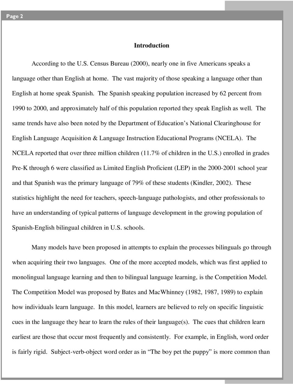 Spanish Influenced English Typical Semantic And Syntactic Patterns