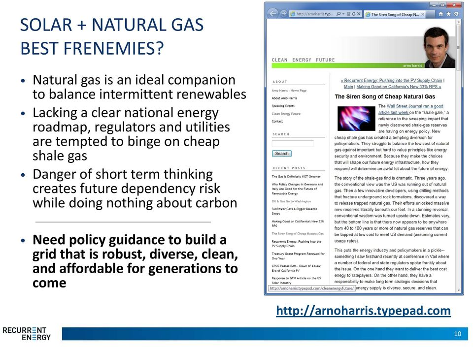 roadmap, regulators and utilities are tempted to binge on cheap shale gas Danger of short term thinking creates