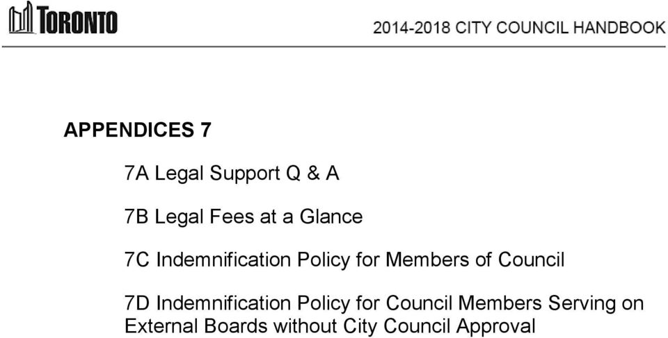 Council 7D Indemnification Policy for Council Members