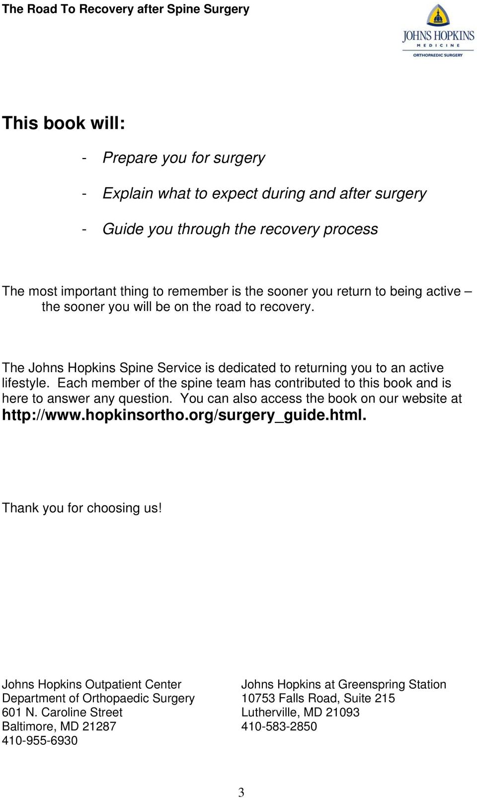 The Road To Recovery - PDF