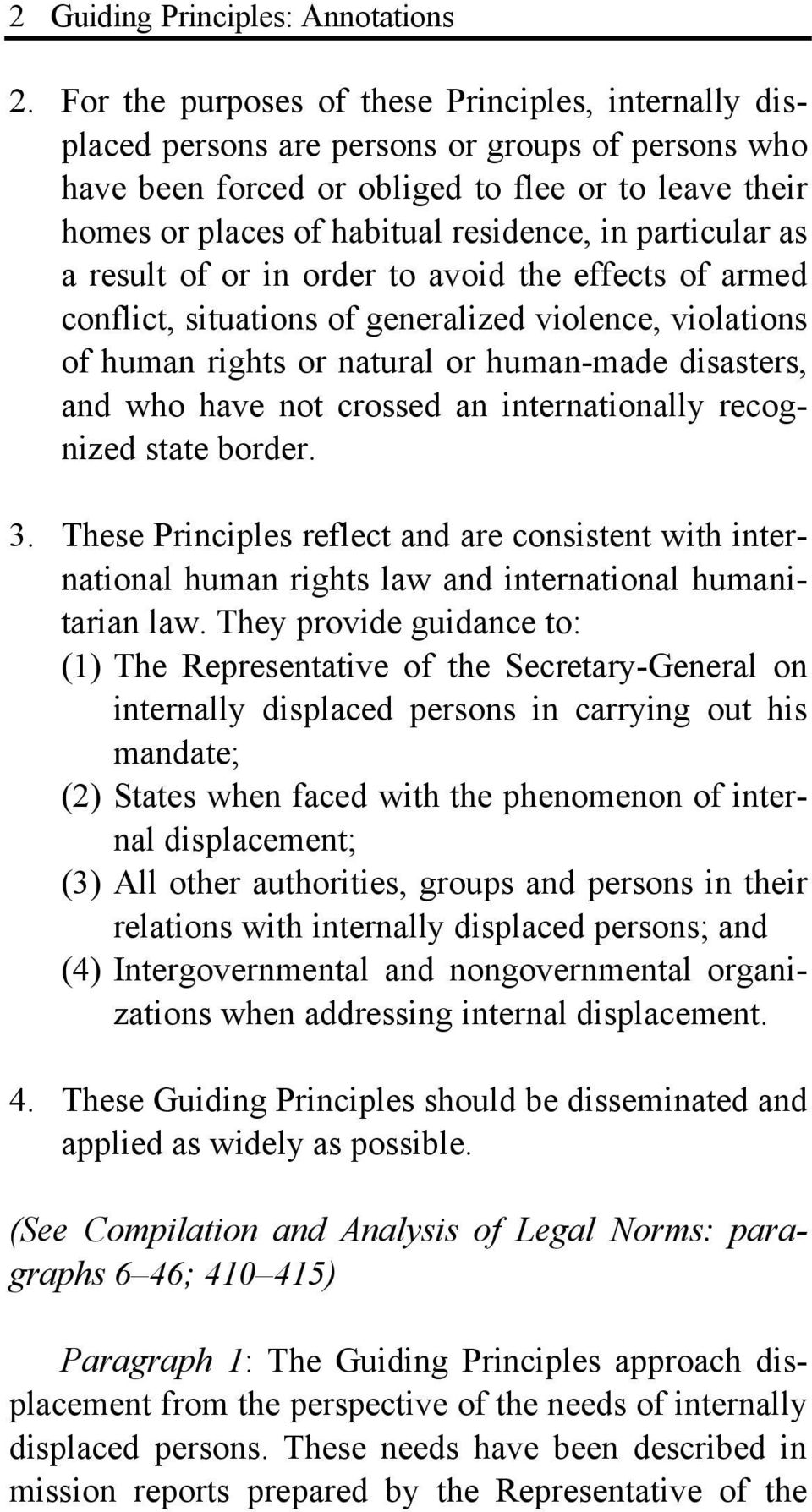 guiding principles on internally displacements Massive internal displacements in kenya due to politically instigated ethnic clashes in the united nations guiding principles on idps executive summary.