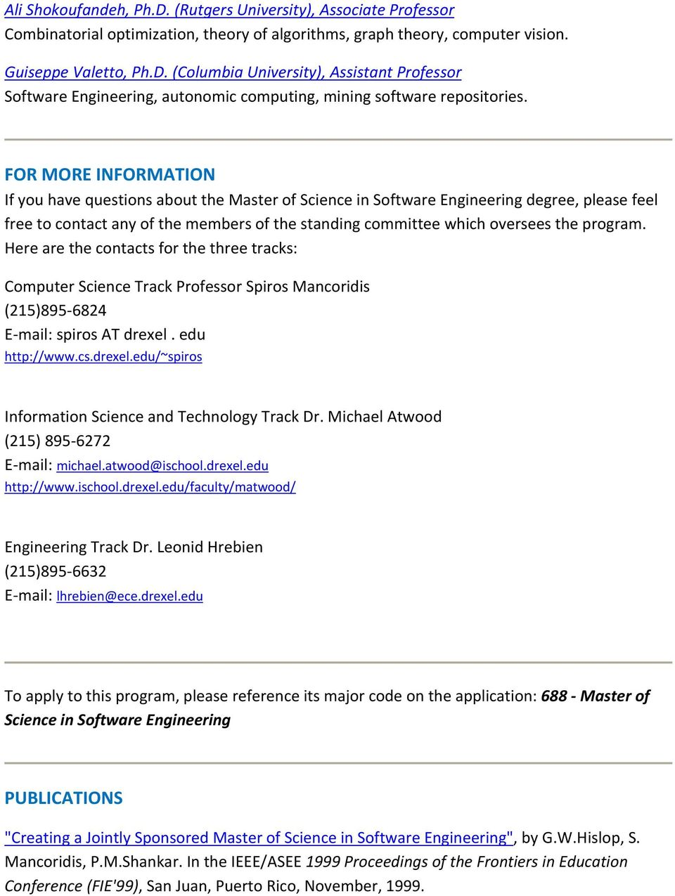 Master of Science in Software Engineering - PDF