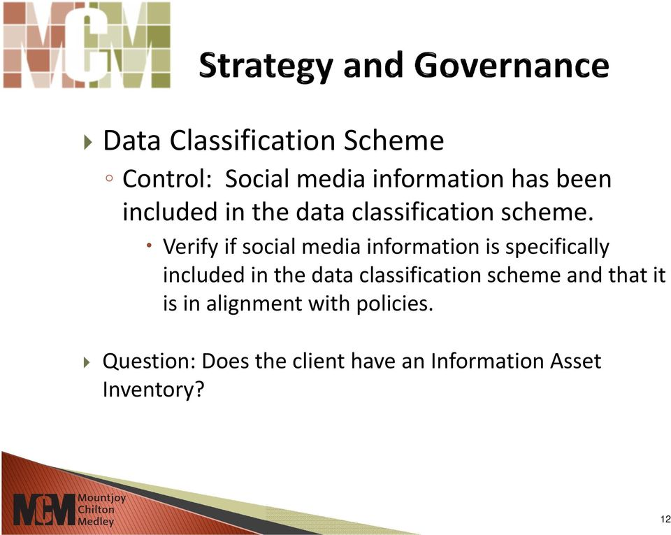 Verify if social media information is specifically included in the data
