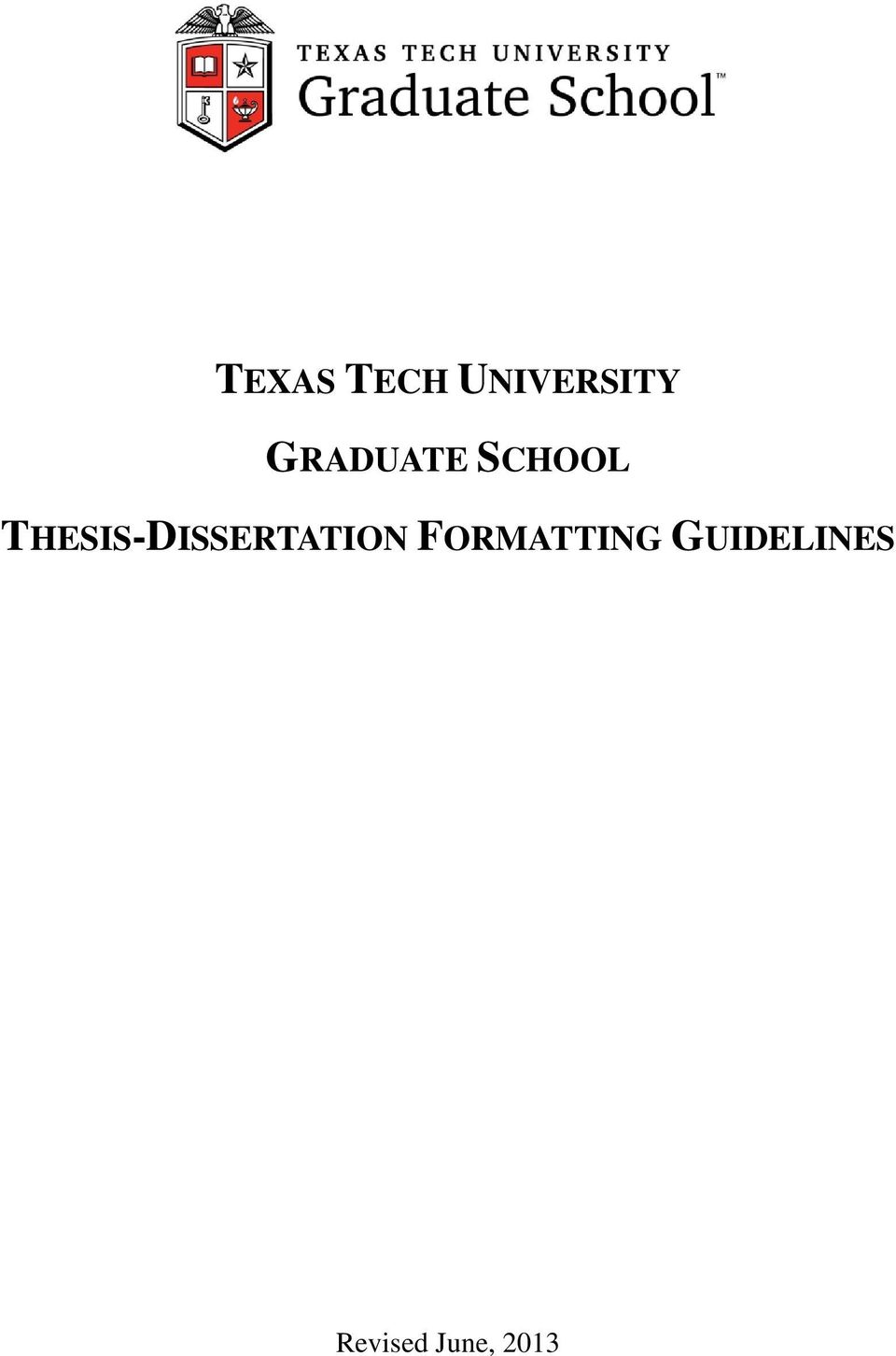Dissertation proposals in tqm
