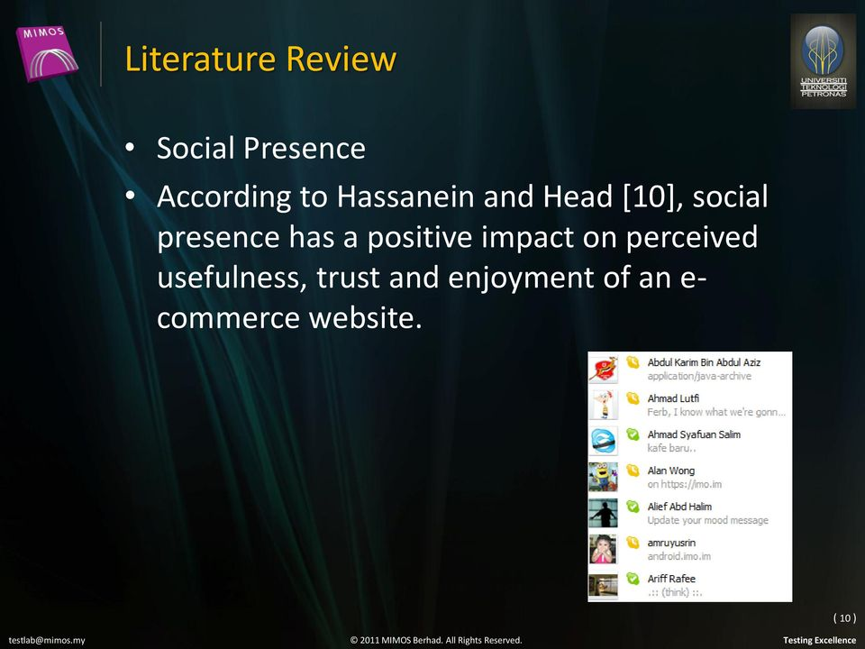 Literature review on e commerce websites