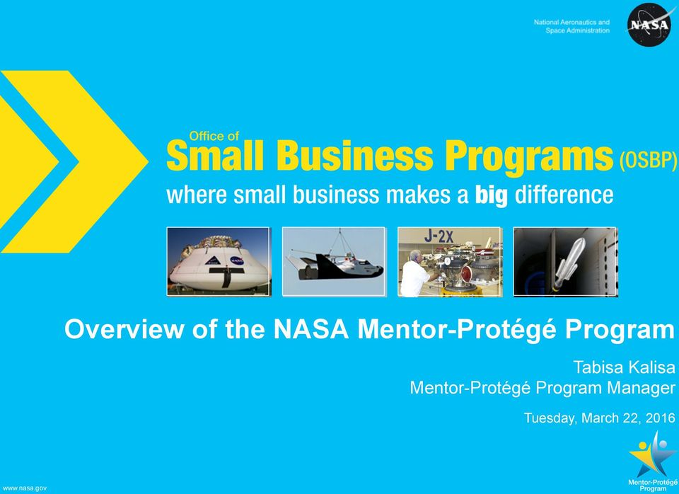 contracting government programs business development program mentor protege