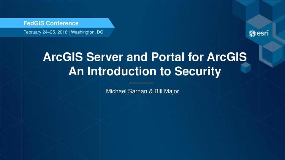 and Portal for ArcGIS An