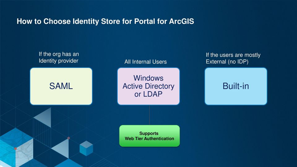 Windows Active Directory or LDAP Supports Web Tier