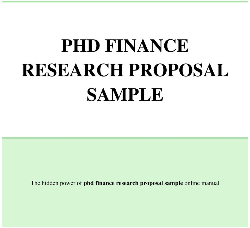 Writing Phd Proposal