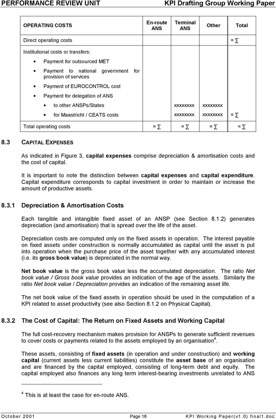 3 CAPITAL EXPENSES As indicated in Figure 3, capital expenses comprise depreciation & amortisation costs and the cost of capital.