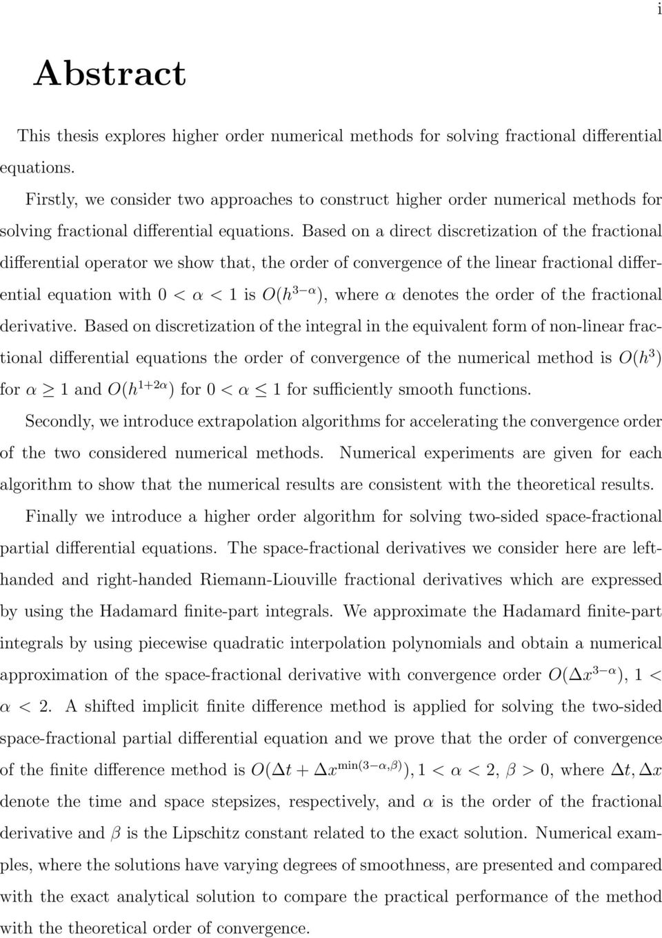 thesis on fractional differential equations