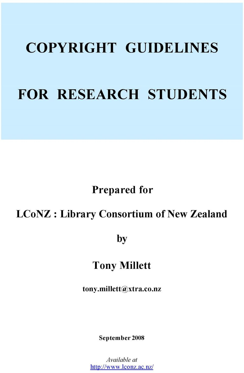 Zealand by Tony Millett tony.millett@xtra.co.
