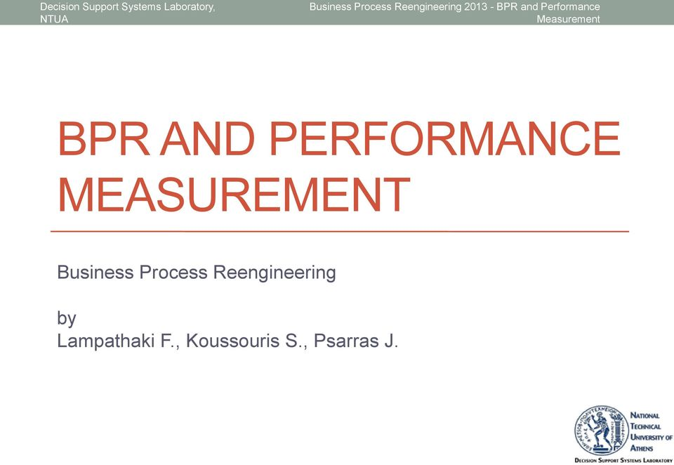 Process Reengineering by