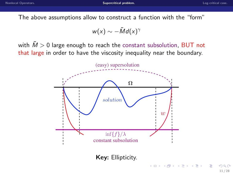 large in order to have the viscosity inequality near the boundary.