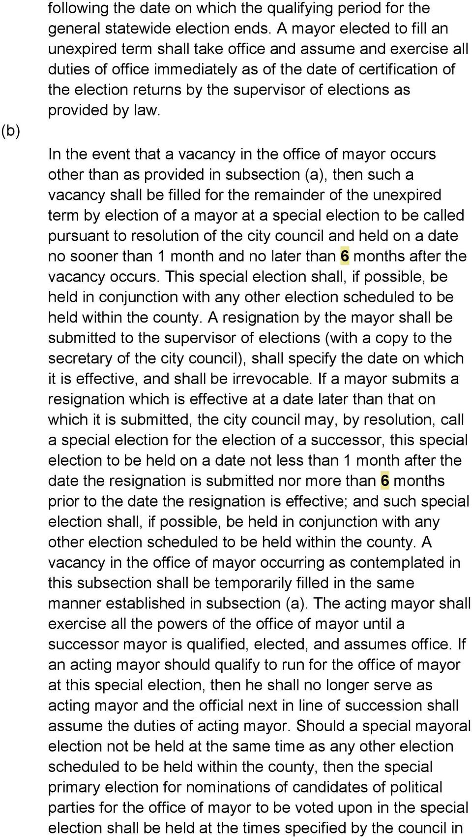 elections as provided by law.