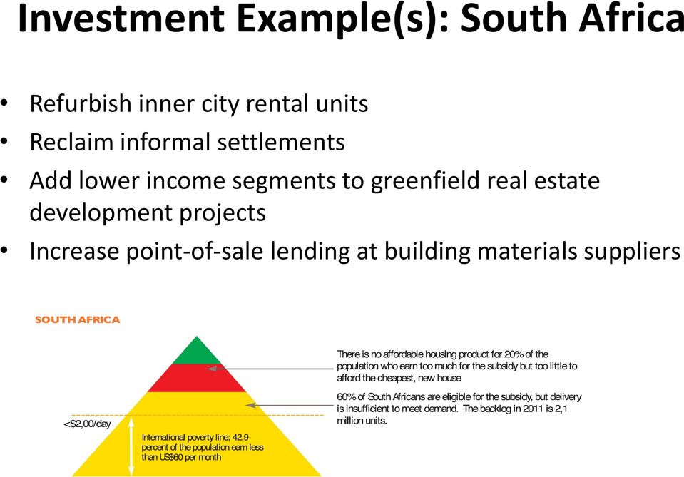 segments to greenfield real estate development projects