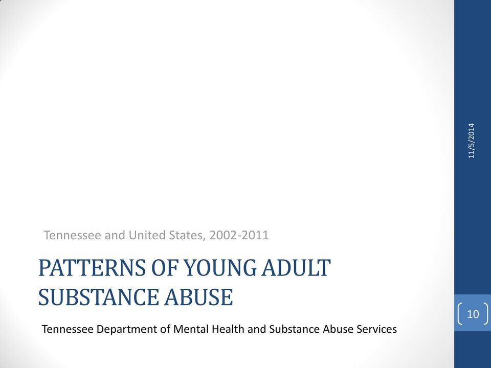 SUBSTANCE ABUSE Tennessee Department