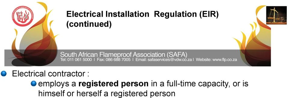 a registered person in a full-time