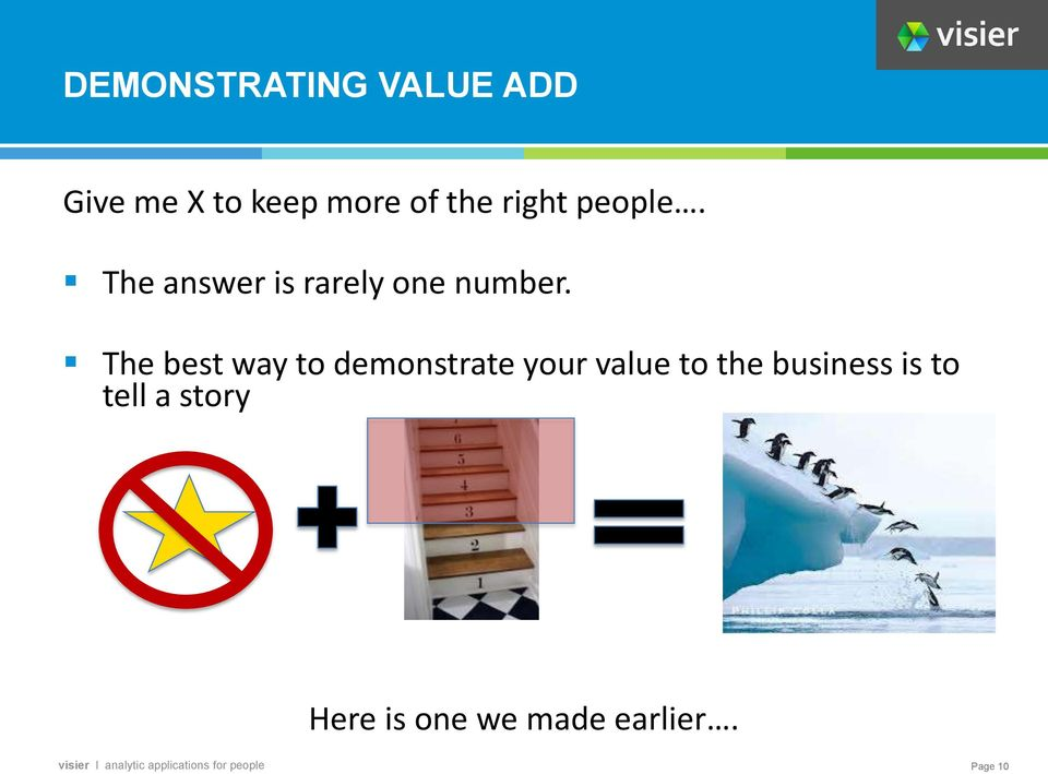 The best way to demonstrate your value to the