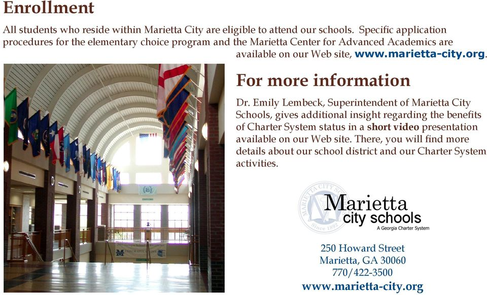 marietta-city.org. For more information Dr.