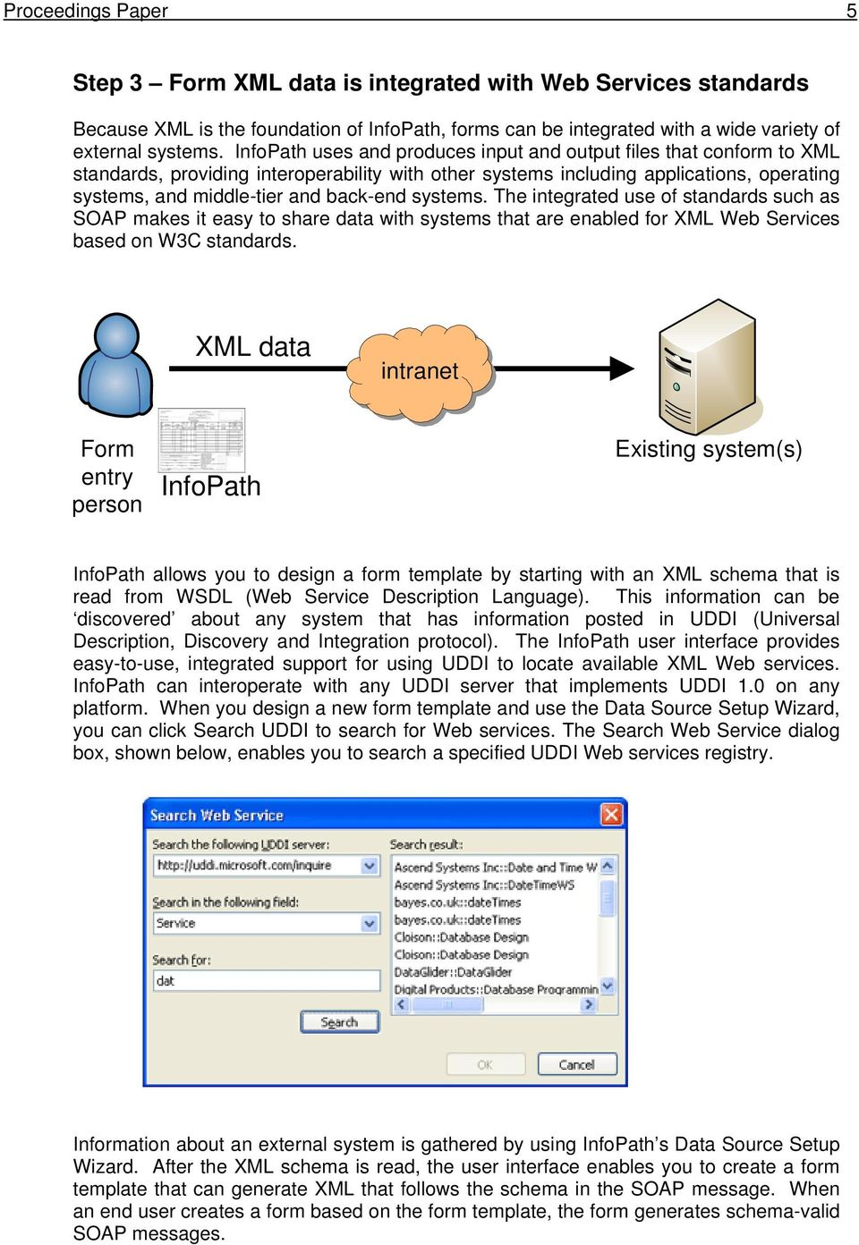 The integrated use of standards such as SOAP makes it easy to share data with systems that are enabled for XML Web Services based on W3C standards.