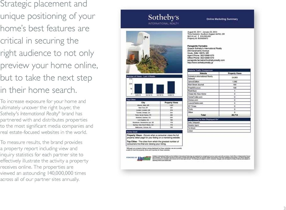 To increase exposure for your home and ultimately uncover the right buyer, the Sotheby¹s International Realty brand has partnered with and distributes properties to the most