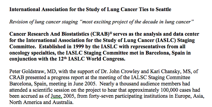 7 th Edition ТNM lung cancer 2009