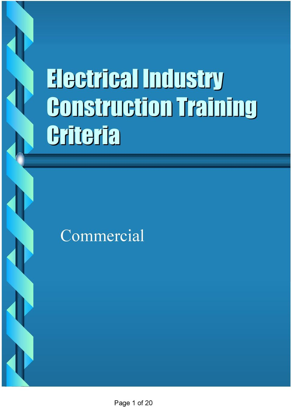 Electrical Industry Construction Training Criteria - PDF