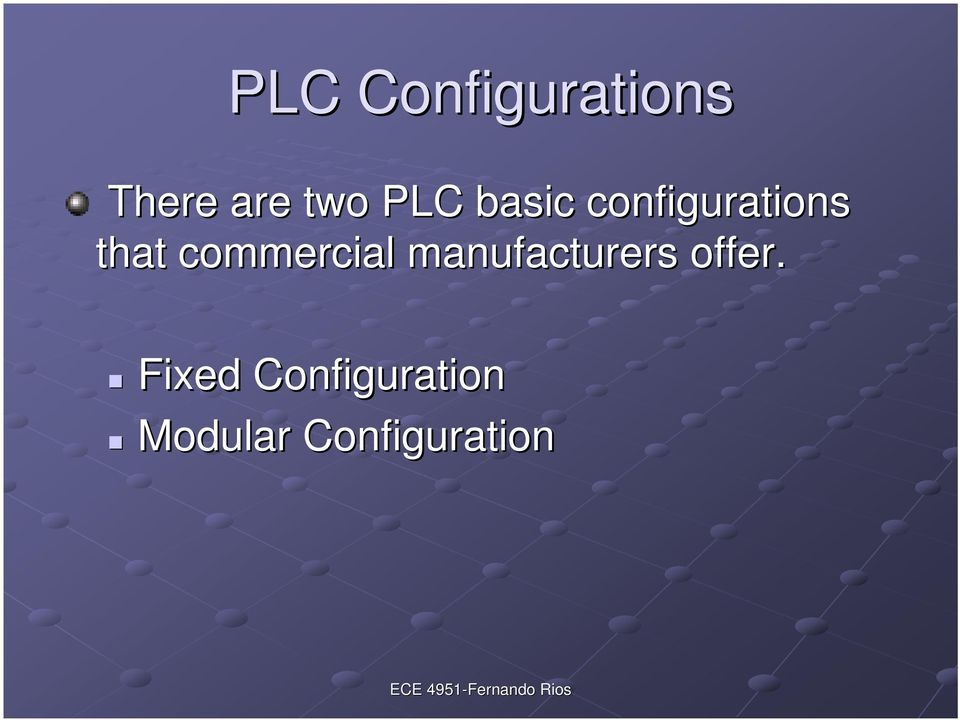 commercial manufacturers offer.