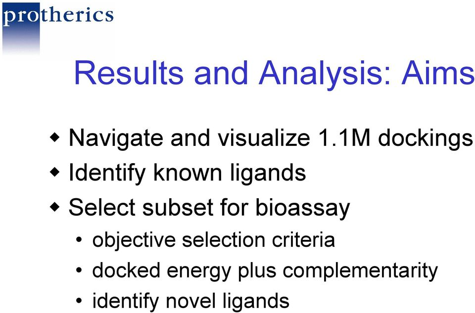 subset for bioassay objective selection criteria