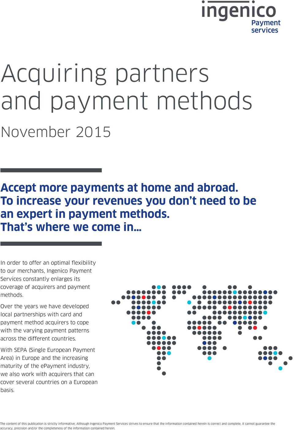 Acquiring partners and payment methods - PDF