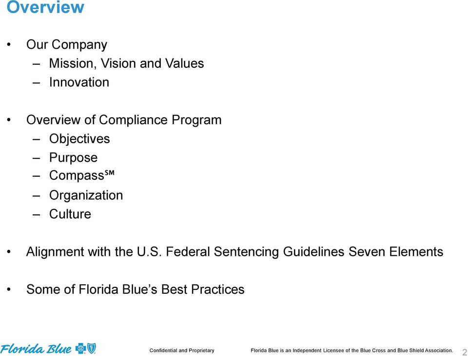 federal sentencing guidelines compliance program